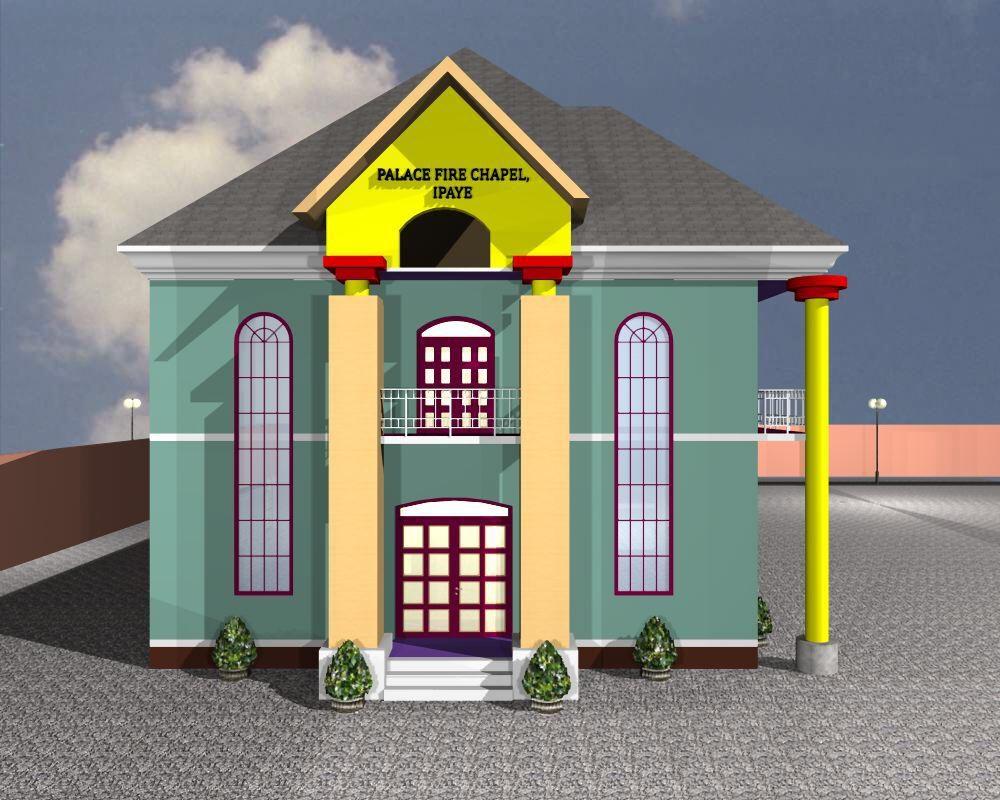 Palace Fire Church Building 3D Image 1