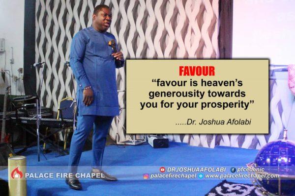 Rev. Joshua Afolabi Preaching About Favor